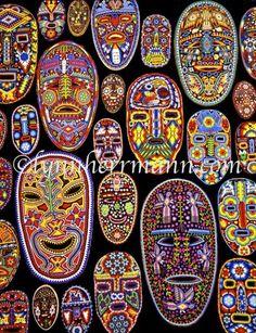 The Huichol masks