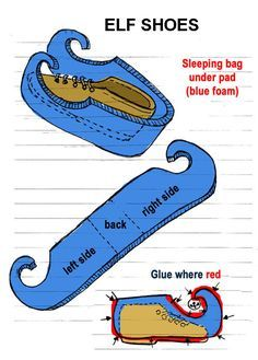 get some blue under pad (for sleeping bags) to wrap a shoe or old sneaker (try to use a pair with black bottoms/soles). Note: make sure you use a pair of shoes that can be put on and off quickly (like slippers). You may also need to leave a flap in the top front with velcro to allow opening and closing around your ankles (helps to keep them on your feet. Make sure you leave room at the bottom of the foam to allow for the sole of the shoe to contact the ground.