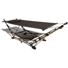 Amazon.com: Strathwood Basics Portable Folding Hammock with Carry Bag, Chocolate with Champagne Frame: Patio, Lawn & Garden