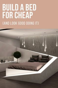 Build a Bed for Cheap (and Look Good Doing It)   DIY Project Ideas   Furniture Making Inspiration   Frugal Living Tips   Life Hacks