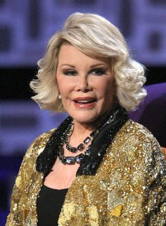 """...And then there's Joan Rivers. Still living and going strong. Love the many facial changes over the years. Pull this back, lift that cheek bone. """"Oh Grow up""""  Don't stop Joan, show them all you still got what it takes!!!    A Fan!"""