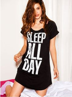 Not that Subtle sleeps much these days. Maybe she just likes the irony of this sleepshirt.