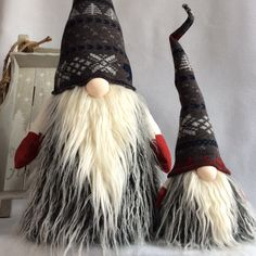 Swedish Norwegian Tomte Nisse Gnome features weighted bottom for extra stability. Bendable hat and arms to position anyway you desire! This listing is for the adorable smaller Gnome in the photos! He is wearing his grey hat with red snowflake and white tree x-mas style pattern and his cute little red gloves to match! If you dont want this little guy to be lonely you may check out my other listings for his larger sized friend to keep him company! :)  There may be slight differences from the…
