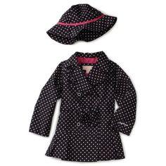 London Fog Toddler Girls Toddler Printed Trench Coat $32.40
