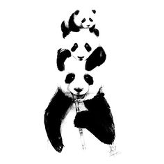 A cute and motivational tattoo, with a panda family. This tattoo is perfect for arms, and it symbolizes family, devotion, love and happines.