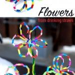 Flowers+from+from+drinking+straws