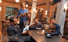 Mark Sheppard, Jared Padalecki, Jensen Ackles, and Misha Collins  | Entertainment Weekly Exclusive