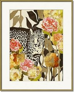 """""""Into The Wild"""" Cozamia art print, gold frame by Imagekind"""