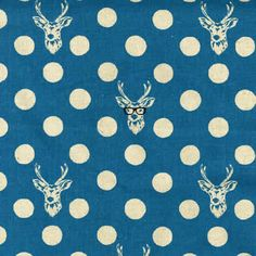 Buck in Blue - ECHINO Japanese Imported Fabric - | Sumally
