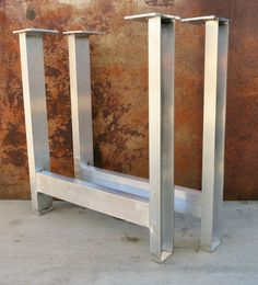 Check out this item in my Etsy shop https://www.etsy.com/listing/241018904/aluminum-table-legs-set-of-2