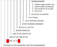 You are now Canadian. One of us! One of us! Stupid Funny, The Funny, Hilarious, Funny Stuff, Random Stuff, Funny Things, Funny People, Awesome Stuff, Funny Tumblr Posts