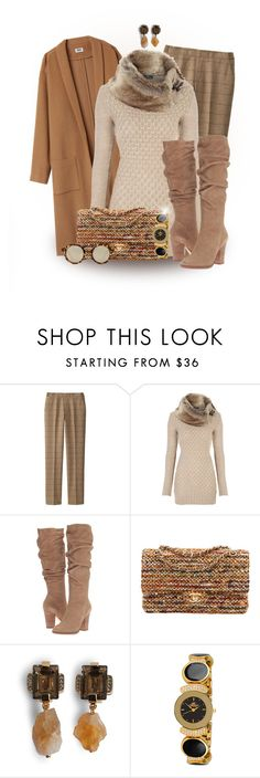 """""""Praline Pecan"""" by loveroses123 ❤ liked on Polyvore featuring Uniqlo, Steve Madden, Chanel, Marni, Adee Kaye and MANGO"""