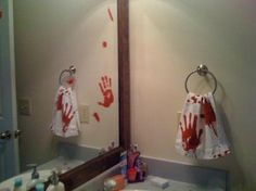 Amazon.com - Bloody Handprint Clings Party Accessory (1 count) (22/Sh)