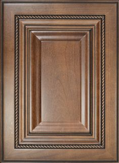Venetian Raised Panel Mitered Door  Available Material: Select Wood Species  Color Shown: Pecan Stain with Black Glaze on Alder Material Outside Profile: Predetermined Raised Panel, Face Framing, Custom Cabinetry, Wood Species, Cabinet Doors, Venetian, Color Show, Pecan, Overlays