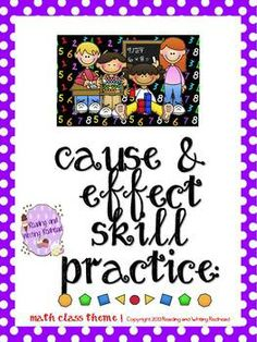 Freebie: Cause and Effect Skill Practice Page