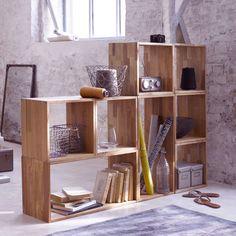 Modern Natural Wood Shelves Design: Modern Natural Wood Shelves Design