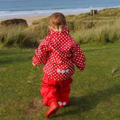 Spotty fun at the beach! Outdoor play is always more fun in my waterproofs! Purple, Pink, Blue, Outdoor Play, Dungarees, Beach Fun, Boys Who, More Fun, Viola