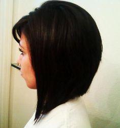 Longer A-line cut...classy and cute. I like it!!