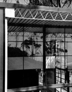 #Eames House corner which faces towards the Pacific Ocean #casestudyhouse