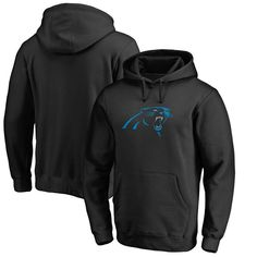 Carolina Panthers NFL Pro Line Primary Logo Hoodie - Black