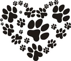Heart of Paws Paws Decal Paws Sticker Dog Paw by lillyloucreations, $19.99