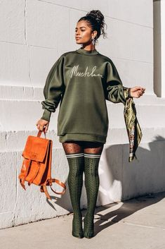 Edgy Outfits, Cute Casual Outfits, Dress Outfits, Fashion Outfits, Urban Chic Outfits, Fashion Bags, Dresses, Black Girl Fashion, Tomboy Fashion