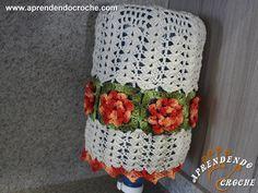 Capa de Crochê Barroco p/ Galão de Água - 20 Lt - Decorações em Crochê - Aprendendo Croche.