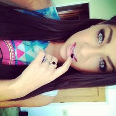 Andrea Russett. She is so pretty!! I love her eye makeup!