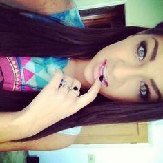 Andrea Russett. She is so pretty!! I love her eye makeup!