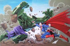 Superman vs Hulk by ~Spidey0107 on deviantART