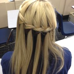 the waterfall braid I did