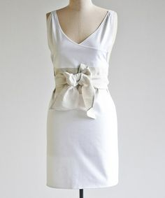 Look what I found on #zulily! Cream & Oatmeal Sash Linen-Blend Apron by IceMilk Aprons #zulilyfinds