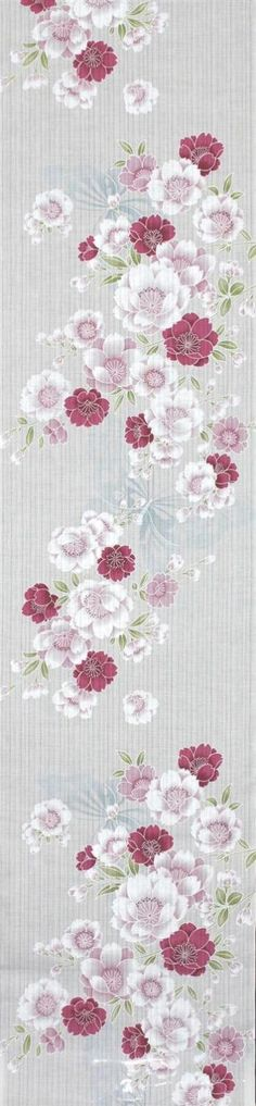 最新作高級浴衣生地  No.289  白地・桜・蝶柄(1)
