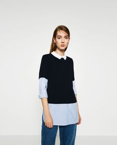 CONTRAST TOP-TRF-NEW IN | ZARA United States