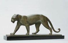 Lucien GIBERT (1904-1988) Panthère Épreuve en bronze, fonte d'édition à pati