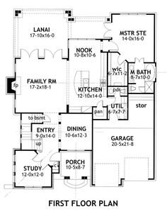 First Floor Plan image of Whispering Valley