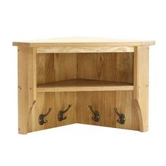 Small Corner Wall Shelf  sc 1 st  Pinterest & Wall Mounted Corner Shelf With Hooks | http ...