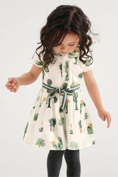 Buy Ecru Cactus Print Dress (3mths-6yrs) from Next USA
