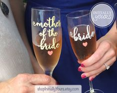 Mother of the Bride Champagne Glass Mother by shopInitiallyYours