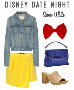 No matter where your next date may be look cute and chic with this style inspired by Snow White #Disney #style