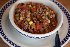 Southwest Ground Beef Stew- Quick and Easy Dinner!