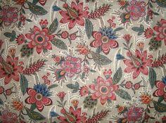 Morgaine Le Fay antique Textiles and More: Toile de Jouy block printed cotton chintz c1780-1800