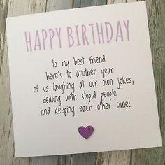 GBP – Funny Best Friend Birthday Card/ Bestie / Humour/ Fun / Sarcasm – Another Ypp - Birthday Gift Best Friend Birthday Cards, Cool Birthday Cards, Happy Birthday Quotes, Happy Birthday Images, Happy Birthday Wishes, Birthday Diy, Best Friend Gifts, Humor Birthday, Birthday Ideas
