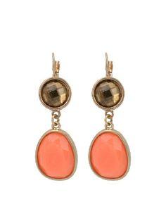 Resin Rhinstone Woman Dangle Earrings