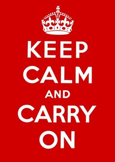 Keep Calm & Chill out  http://www.tuxboard.com/keep-calm-and-carry-on/