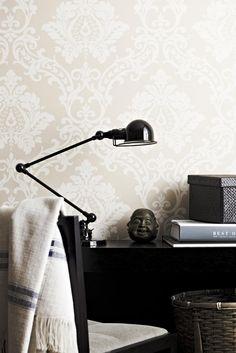 Interior Wallpaper, Wall Wallpaper, Desk Lamp, Table Lamp, Designer Wallpaper, Tile Floor, Sweet Home, Wall Decor, Flooring