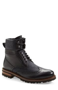 Monte Rosso 'Trentino' Wingtip Boot (Men) available at #Nordstrom...love the felt placement