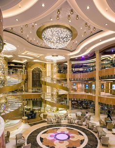 The Piazza Atrium, Royal Princess Mansion Interior, Interior Exterior, Luxury Interior, Home Interior Design, Cruise Ship Pictures, Restaurant Hotel, Royal Cruise, Dream Mansion, Luxury Dining Room