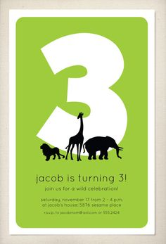#zoo birthday party invitation!