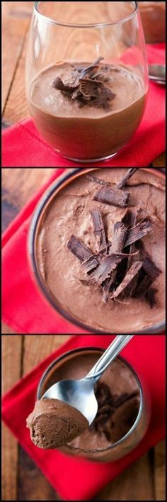 Chocolate Mousse For Two – rich and silky treat for two!